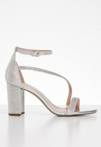 Call It Spring - Azaria ankle strap heel - silver