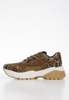 Call It Spring - Ankers snakeskin sneaker - brown & beige