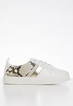 Call It Spring - Augustiski snakeskin sneaker - white