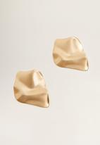 MANGO - Embossed earring - gold