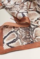 MANGO - Snake print scarf - brown