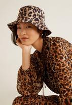 MANGO - Leopard bucket hat - beige