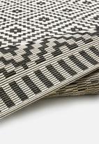 Hertex Fabrics - Rubix runner - coal