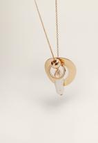 MANGO - Mixed bead necklace - gold