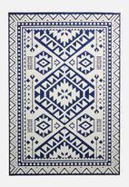 Sixth Floor - Corfu outdoor rug - navy