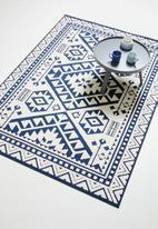 Sixth Floor - Corfu woven outdoor rug - navy