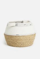 Sixth Floor - African belly basket - beige & white