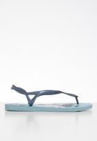 Havaianas - Luna print flip flops - blue