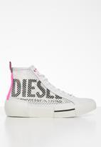 Diesel  - S-dese mid cut w - star white / pink fluo