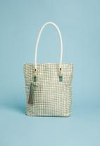Superbalist - Woven shopper bag with tassel - green