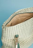 Superbalist - Woven shopper bag with tassel - green
