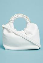 Superbalist - Clayton rouched handle bag - white