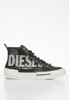 Diesel  - S-dese mid cut w - black / yellow fluo