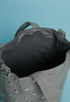Superbalist - Round studded bucket bag - grey
