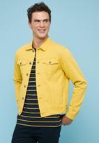 Superbalist - Colour denim trucker jacket - yellow