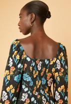 Superbalist - Square neck dress - black