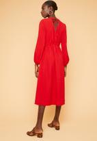 Superbalist - Lantern sleeve dress - red