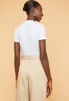 Superbalist - Soft melange rib high neck fitted tee - Light mint