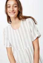 Cotton On - Woven Brielle short sleeve playsuit  - multi