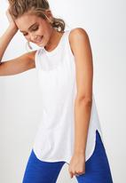 Cotton On - Scooped flow tank top - white
