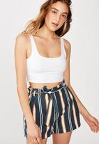 Cotton On - Riley high waist short - multi