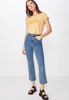 Cotton On - Classic slogan T-shirt - yellow