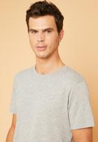 Superbalist - Longline curved hem short sleeve tee - grey