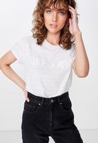 Cotton On - Classic slogan T-shirt - grey
