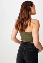 Cotton On - Samantha seam free rib tube - green