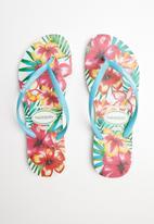 Havaianas - Slim hibisco - white