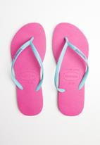 Havaianas - Slim logo pop-up - pink & blue