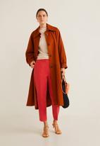 MANGO - Straight leg trousers - red