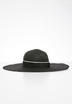 Superbalist - Fringe floppy sun hat - black