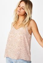Cotton On - Astrid cami  - pink & brown