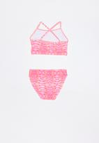 Rebel Republic - Printed 2 piece swimsuit - pink