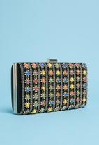 dailyfriday - Star embellished clutch - black