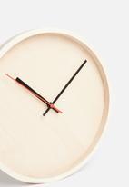 Native Decor - Deep frame round clock - natural