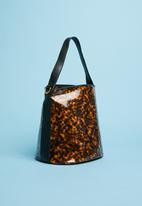 Superbalist - Patent perspex bag - brown & black
