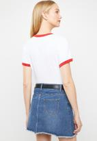 Levi's® - Perfect ringer tee - white & red