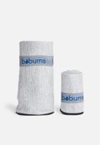 Bobums - Gym towel and yoga towel set - melange black