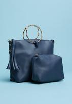 Superbalist - Ring handle bucket bag - blue