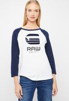G-Star RAW - Graphic xzula tee - white & blue