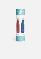Steely - 500ml insulated bottle - white
