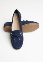 ALDO - Adrerini leather moccasin - navy