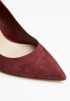 ALDO - Febriclya suede heel - dark red