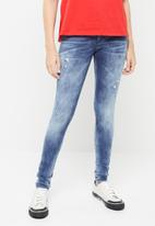 Diesel  - Slandy pantaloni ripped - blue