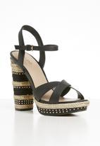 ALDO - Eowalenna leather heel - black