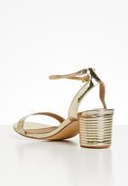 Madison® - Metallic ankle strap heel - gold