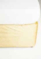 Sixth Floor - Velvet bedwrap - mustard