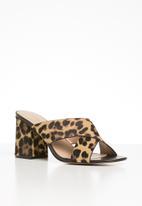 ALDO - Ulayma leather heel - brown & black